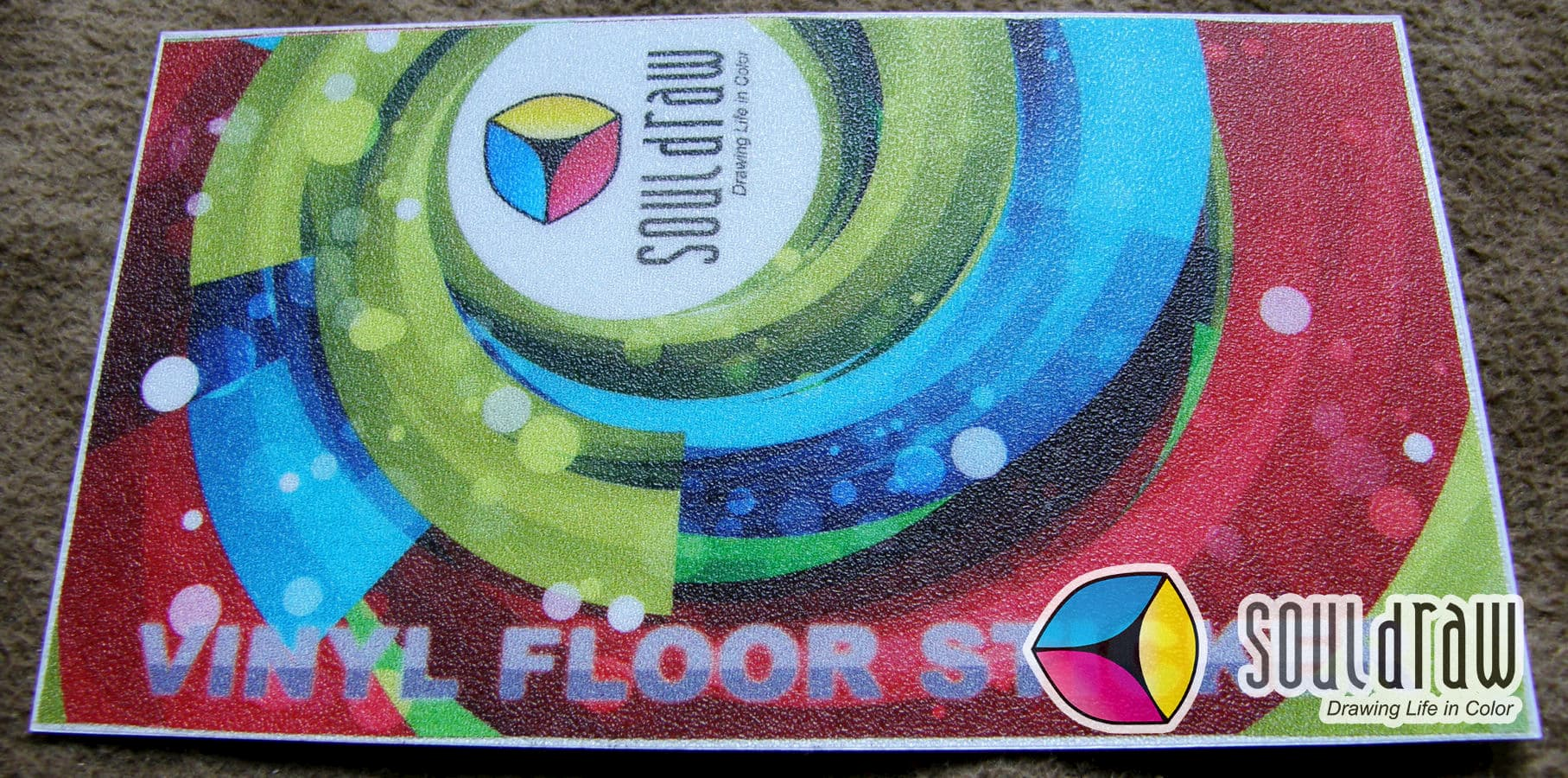 Non Skid Decal - Frosted Vinyl Floor Sticker